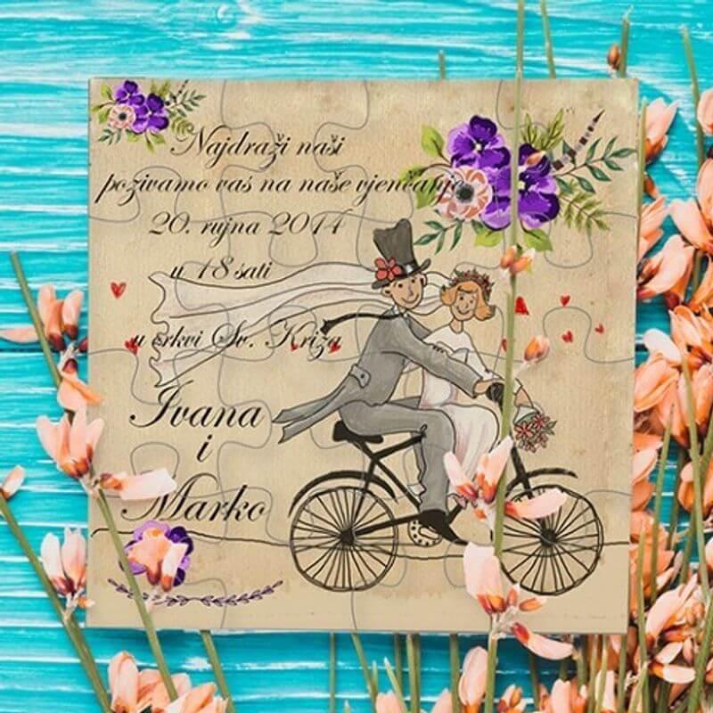 Pozivnice za vjenčanje-Impressura puzzle