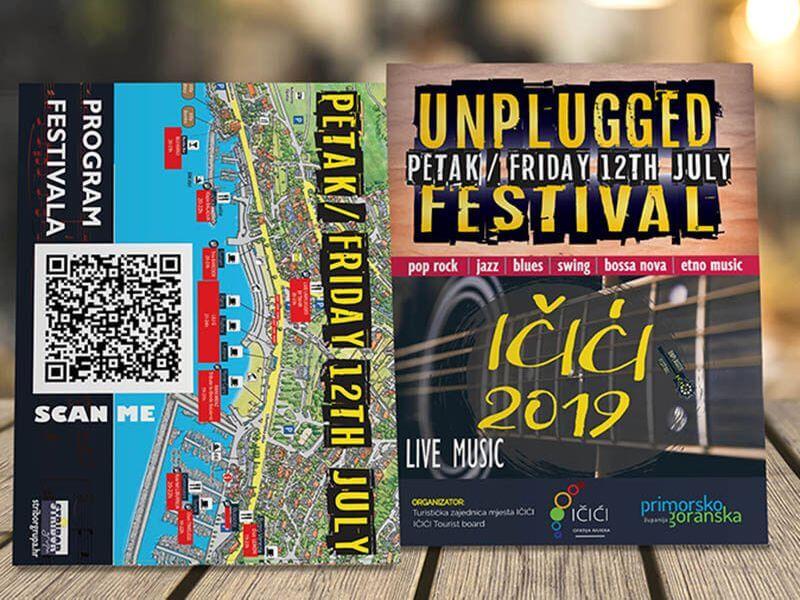 Letak A6 Unplugged festival