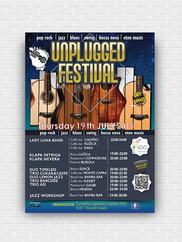 Plakat Unplugged festival Impressura puzzle