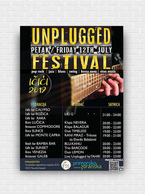 Plakat Unplugged festival