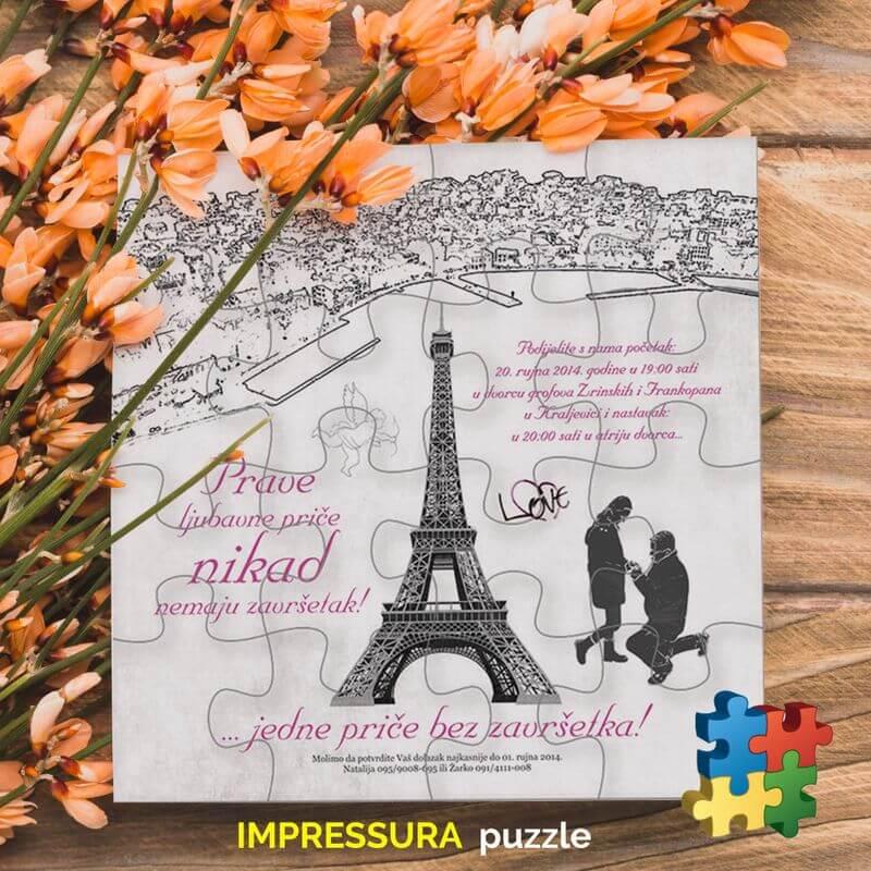 Pozivnice-za-vjenčanje Puzzle-Impressura