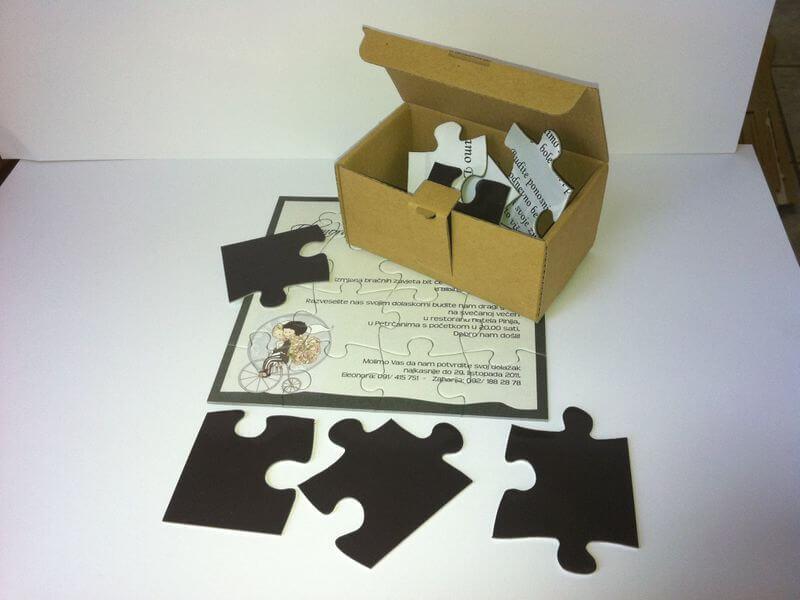 Magnetne pozivnice puzzle