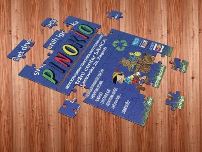 Trgovina pinokio promotivne puzzle Impressura
