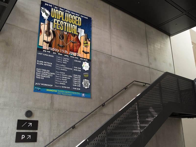 Unplugged festival plakat Impressura puzzle